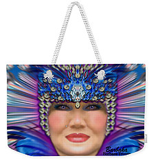 Weekender Tote Bag featuring the photograph The Empress by Barbara Tristan