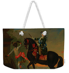 Weekender Tote Bag featuring the painting The Empress Elizabeth Of Russia by Georg Grooth
