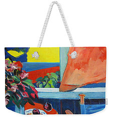 The Empty Blue Canvas Chair Weekender Tote Bag