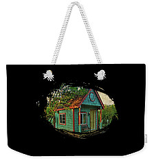 Weekender Tote Bag featuring the photograph The Enchanted Garden Shed by Thom Zehrfeld