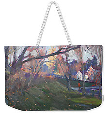The End Of Autumn Day In Glen Williams On Weekender Tote Bag