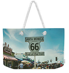 The End Of Sixty-six Weekender Tote Bag by Laurie Search