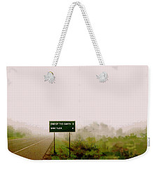 The End Of The Earth Weekender Tote Bag