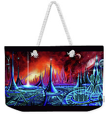 Weekender Tote Bag featuring the painting The Enneanoveum by James Christopher Hill