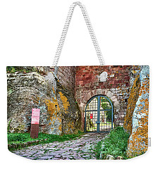 The Entrance To The Monastery Of Escornalbou Weekender Tote Bag