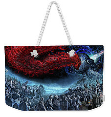 The Essence Of Time Matches No Flesh Weekender Tote Bag