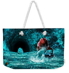 Weekender Tote Bag featuring the digital art The Eternal Ballad Of The Sea by Olga Hamilton