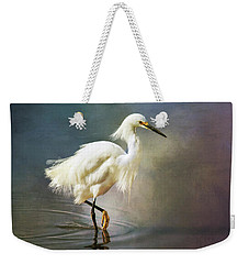 Weekender Tote Bag featuring the digital art The Ethereal Egret by Nicole Wilde