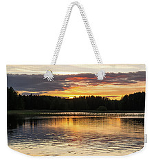 The Evening Came Softly With The Sunset Weekender Tote Bag