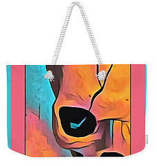 Weekender Tote Bag featuring the digital art The Eye Of Death Abstract Skull by Floyd Snyder