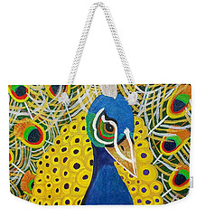 The Eye Of The Peacock Weekender Tote Bag by Margaret Harmon