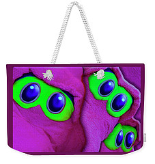 Weekender Tote Bag featuring the photograph The Eyes Have It by Paul Wear