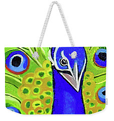 The Face Of A Peacock Weekender Tote Bag