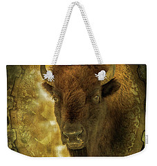 The Face Of Tatanka Weekender Tote Bag