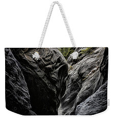 Weekender Tote Bag featuring the photograph The Faces Of Jura Creek Canyon by Brad Allen Fine Art