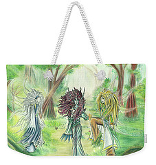The Fae - Sylvan Creatures Of The Forest Weekender Tote Bag
