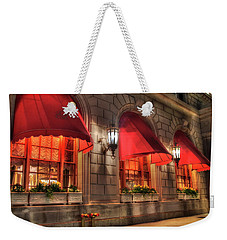 Weekender Tote Bag featuring the photograph The Fairmont Copley Plaza Hotel - Boston by Joann Vitali