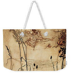 The Fairy's Tightrope From Peter Pan In Kensington Gardens Weekender Tote Bag by Arthur Rackham
