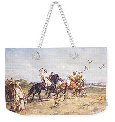 The Falcon Chase Weekender Tote Bag