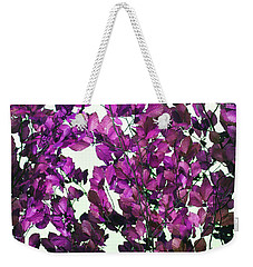 Weekender Tote Bag featuring the photograph The Fall - Intense Fuchsia by Rebecca Harman