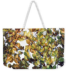 Weekender Tote Bag featuring the photograph The Fall by Rebecca Harman