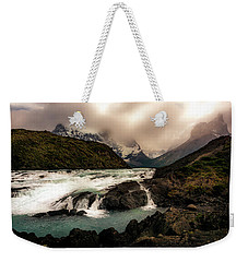 Weekender Tote Bag featuring the photograph The Falls by Andrew Matwijec