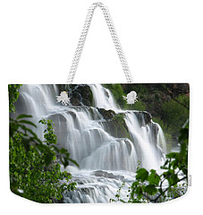 Weekender Tote Bag featuring the photograph The Falls by DeeLon Merritt