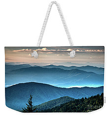 The Far Blue Smoky Mtns. Weekender Tote Bag