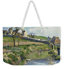 The Farm At Osny Weekender Tote Bag by Camille Pissarro