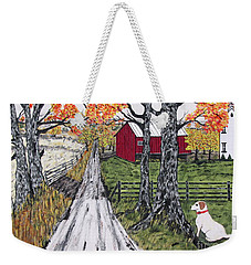 Sadie The Farm Dog Weekender Tote Bag