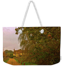 Weekender Tote Bag featuring the photograph The Farm In Autumn by Anne Kotan