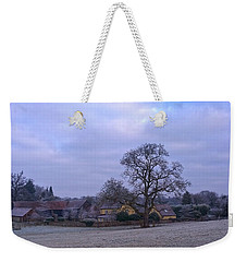The Farm In Winter Weekender Tote Bag