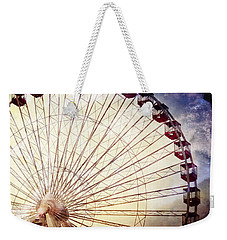 The Ferris Wheel At Navy Pier Weekender Tote Bag