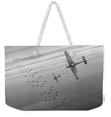 Weekender Tote Bag featuring the photograph The Few Bw Version by Gary Eason