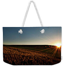 Weekender Tote Bag featuring the photograph The Field Of Gold by Mark Dodd