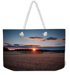 Weekender Tote Bag featuring the photograph The Fields At Sunset by Mark Dodd