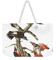 Weekender Tote Bag featuring the photograph The Fight by Munir Alawi
