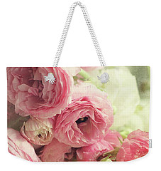 Weekender Tote Bag featuring the photograph The First Bouquet by Sylvia Cook