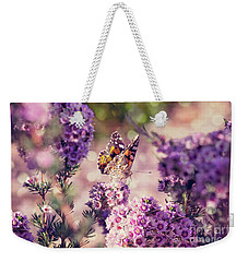 Weekender Tote Bag featuring the photograph The First Day Of Summer by Linda Lees