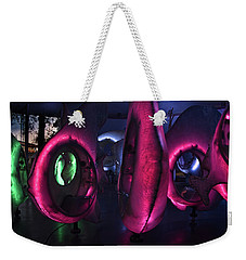 Weekender Tote Bag featuring the photograph The Fish Spin - Seaglass Carousel by Mark Dodd