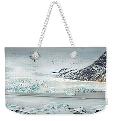 The Fjallajokull Glacier And Ice Lagoon. Weekender Tote Bag