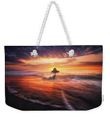 The Flaming Rock Weekender Tote Bag