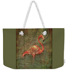 Weekender Tote Bag featuring the photograph The Flamingo by Hanny Heim