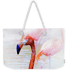 Weekender Tote Bag featuring the photograph The Flamingo by John Kolenberg