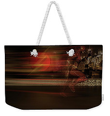 Weekender Tote Bag featuring the digital art The Flash  by Louis Ferreira