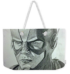 Weekender Tote Bag featuring the drawing The Flash by Michael McKenzie