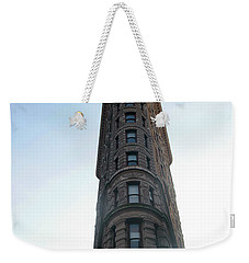 Weekender Tote Bag featuring the photograph The Flatiron - Manhattan by Madeline Ellis