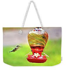 The Flight Of The Hummingbird Weekender Tote Bag by James Potts