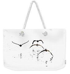 The Flight Of The Pelicans  Weekender Tote Bag