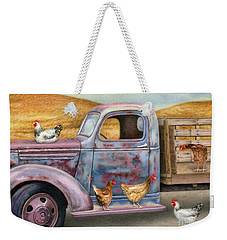 Where The Hens Gather  Weekender Tote Bag